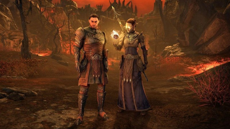A man and woman standing in the Deadlands