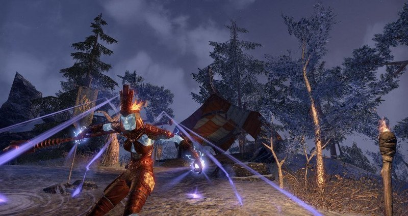 Crystal Frost Skin on a Magicka Sorcerer