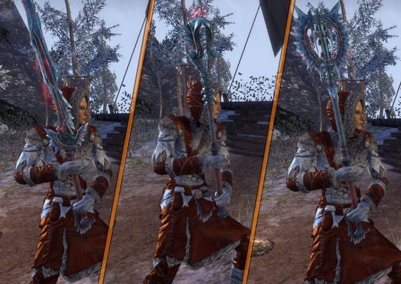 High Elf showcasing a Rkindaleft Weapon 2-Handed during the New Life Festival in ESO