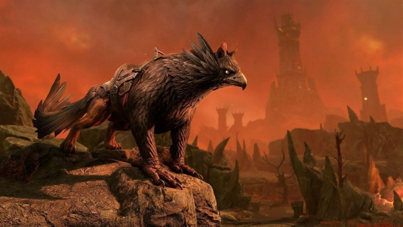 Griffon mount in ESO during the Bounties of Blackwood event in ESO