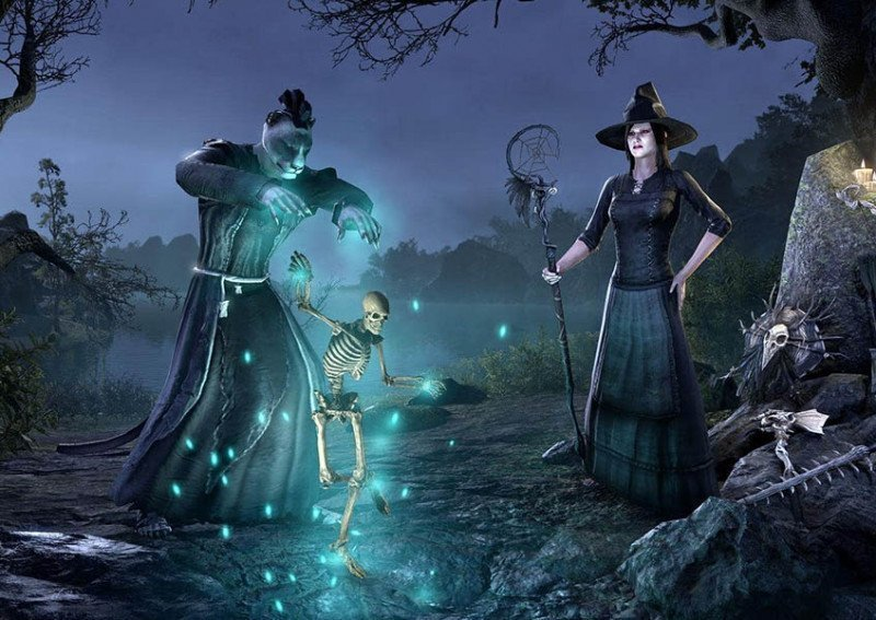 Skeleton marionette Memento Witches Festival ESO