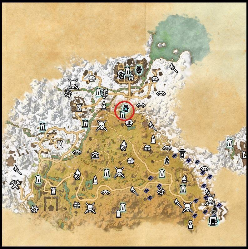 Landkarte von Ostmarsch mit dem Neujahrseventzelt in ESO