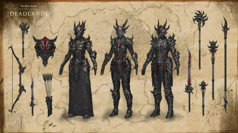 Deadlands DLC Image ESO showcasing deadlands armor units