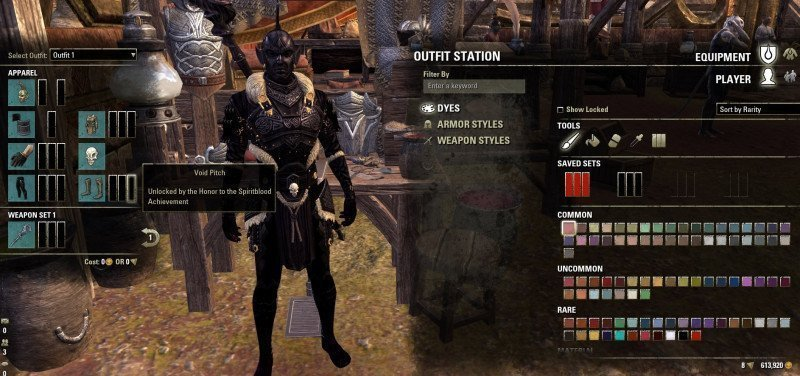 Outfit station character example ESO