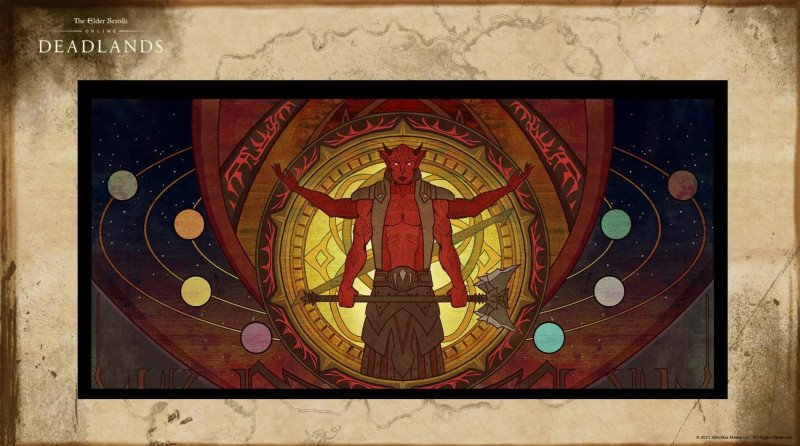 Deadlands DLC Image ESO showing Mehrunes Dagon painting