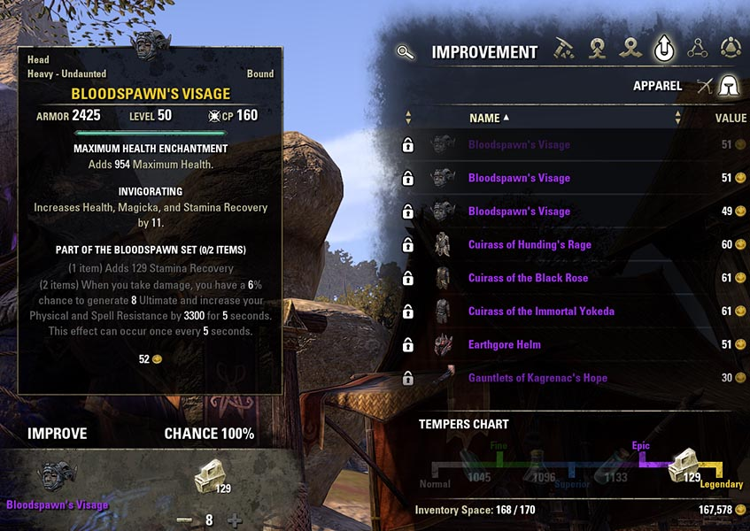Improvement Process Blacksmithing Guide ESO
