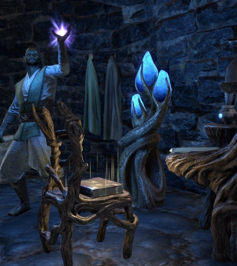 Sermons of Vivec 5 inside Dalen's house on the lower level in ESO