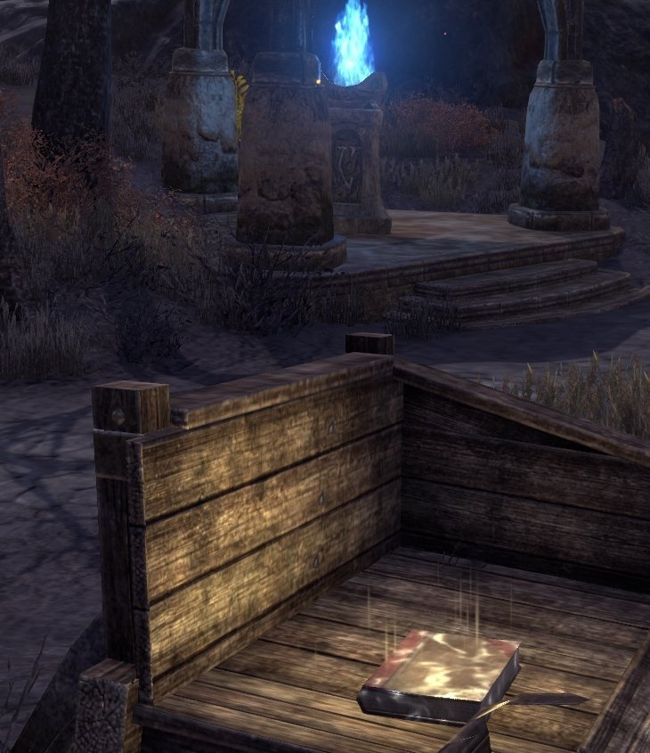Sermons of Vivec 26 at the Nchuleftingth Wayshrine in ESO