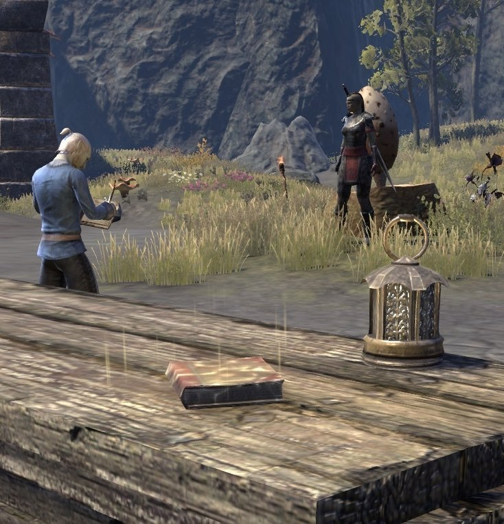 Sermons of Vivec 23 at Foyada Quarry near the dock in ESO