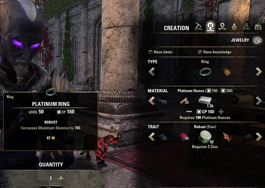 Creation process Jewelry Crafting Guide ESO