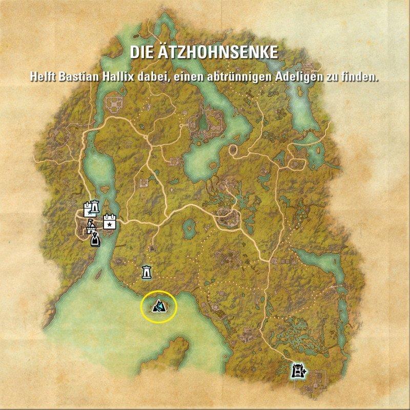 Bastian Hallix Ort wo er gefunden werden kann in der Nähe der Ätzhohnsenke