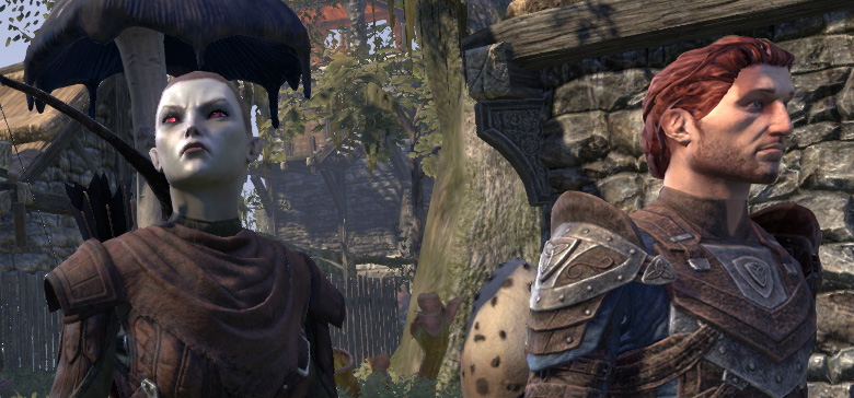 Mirri and Bastian, the two new ESO companions stand next to each other in Blackwood.