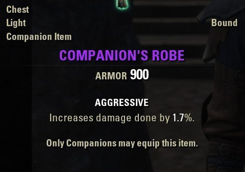 Companion's Robe equipment aggressiv