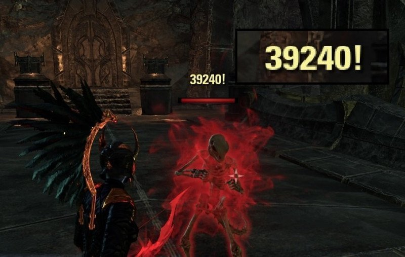 ESO Critical Damage proc example, nightblade critical hit on a target dummy