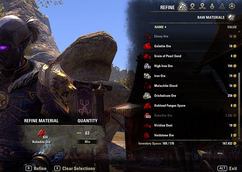 Refine Process Blacksmithing Guide ESO