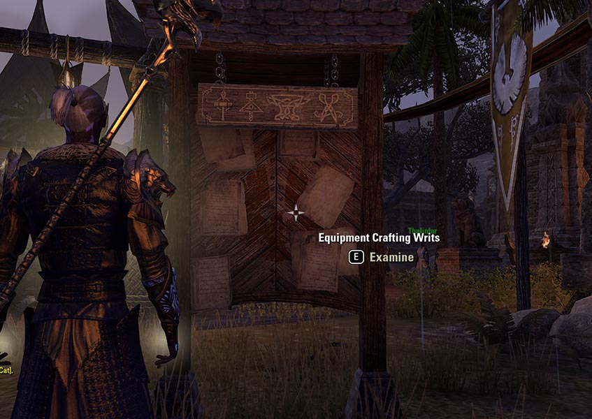 Equipment Crafting Writs Blacksmithing Guide ESO