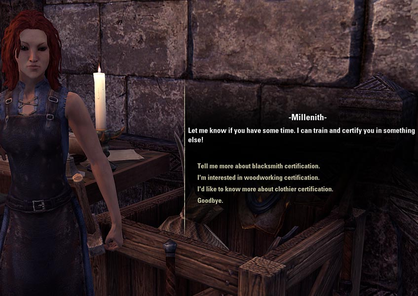 Millenith Certifier Woodworking Guide ESO