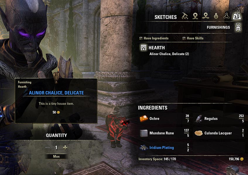 Sketches Furnishings Jewelry Crafting Guide ESO