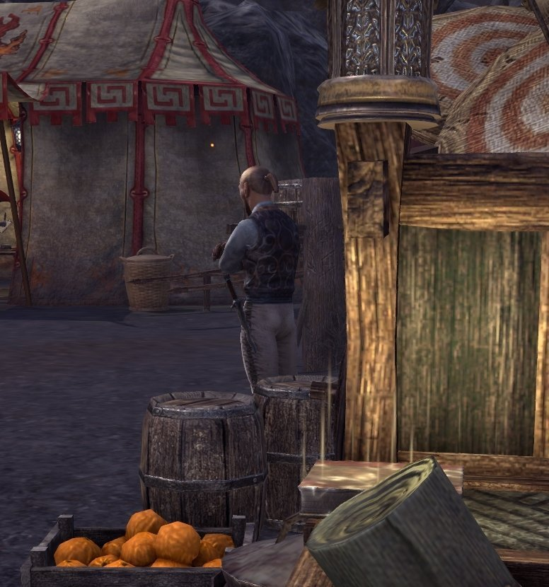 Sermons of Vivec 15 in the middle of Ald Carac on a cart in ESO