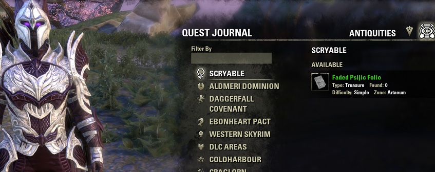 First Lead Antiquities System Grind ESO