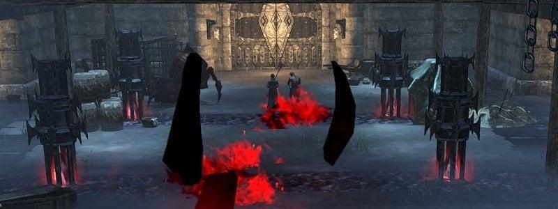 Trashmobs in Dread Cellar dungeon in ESO