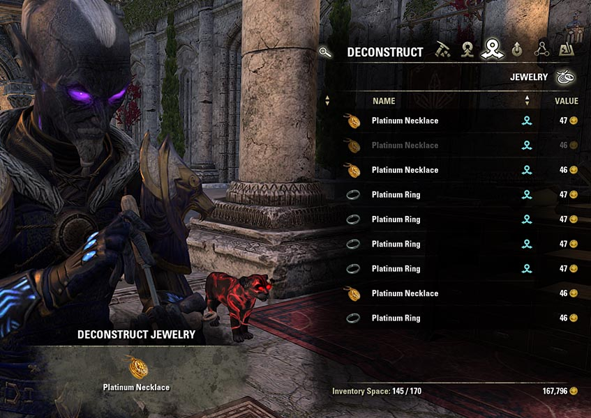 Deconstruct Process Jewelry Crafting Guide ESO