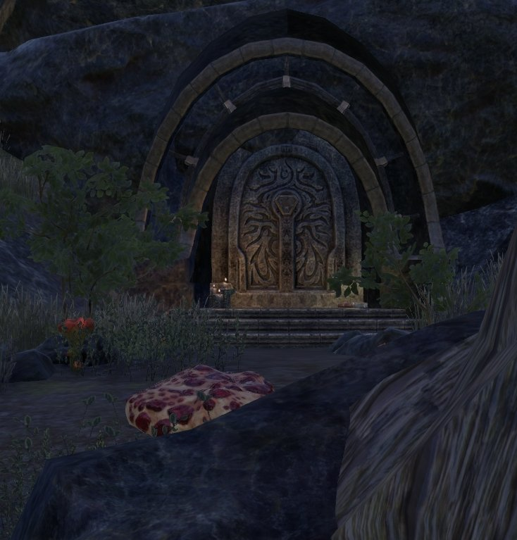 Sermons of Vivec 31 at a small shrine northeast of Salothan's Council in ESO