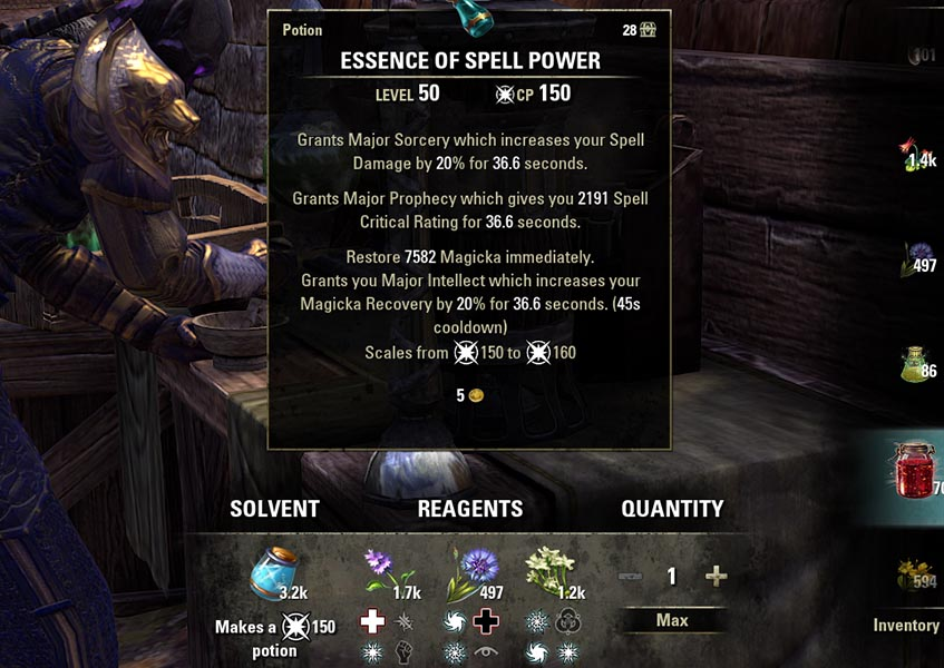 Potion Example Essence of Spell Power Alchemy Guide ESO
