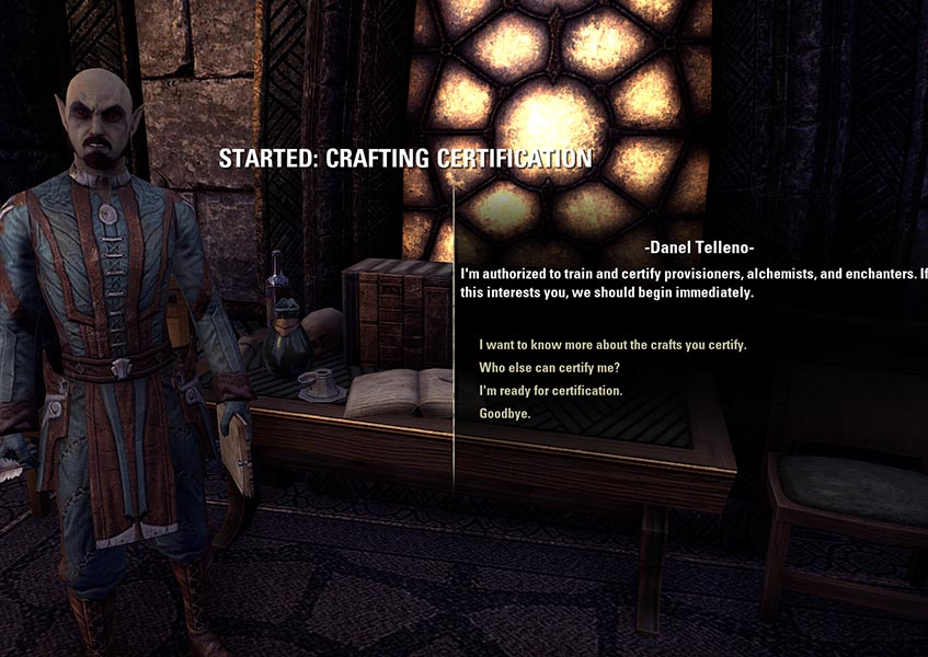 Danel Telleno Crafting Writ Certification Enchanting Guide ESO
