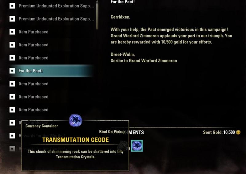 Legendary Transmutation Geode Transmute System Guide ESO