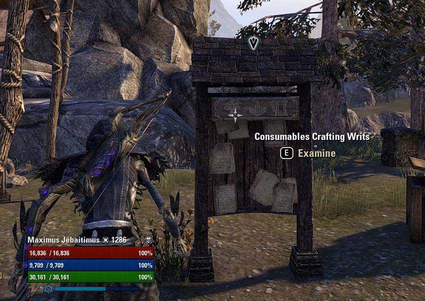 Consumables Crafting Writs Board Enchanting Guide ESO