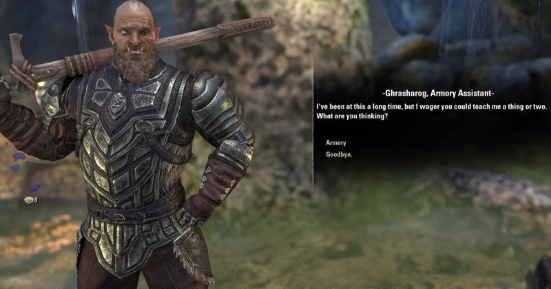 Ghrasharog the Armory Assistant in ESO