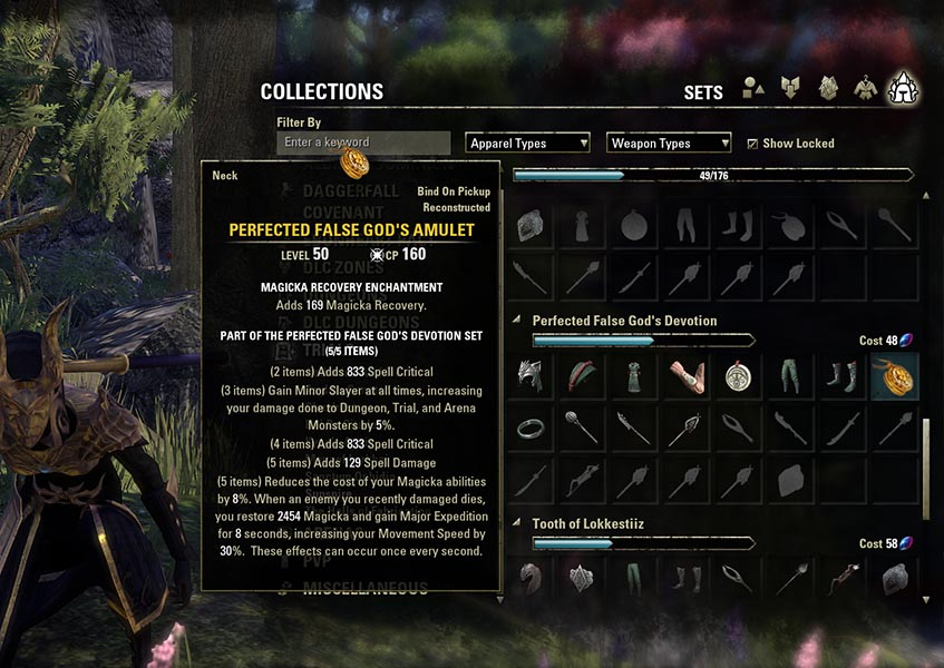 Item Set Collection Example ESO
