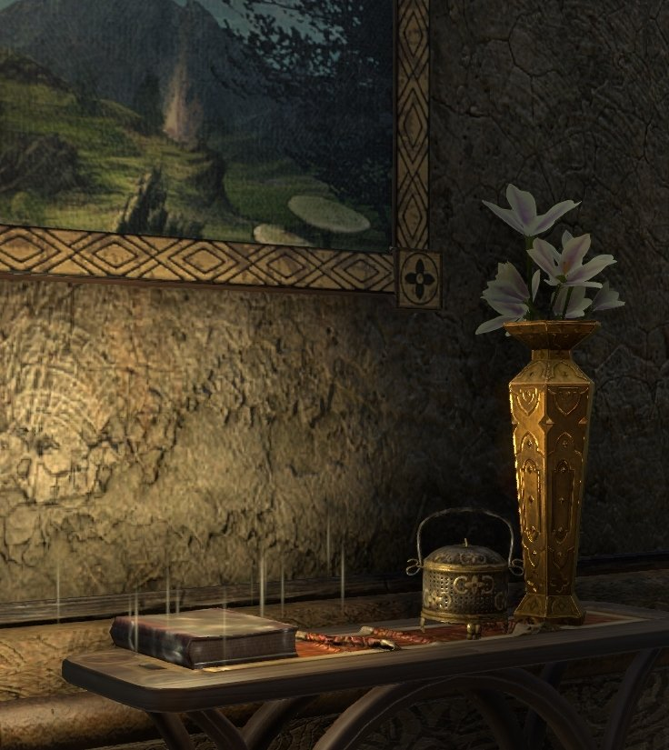 Sermons of Vivec 8 inside the Gathering House in Vos in ESO