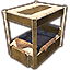 Dwarven Bed, Reach Furs Canopy