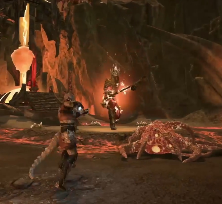 Bossfight in Oblivion Portal Blackwood Chapter ESO
