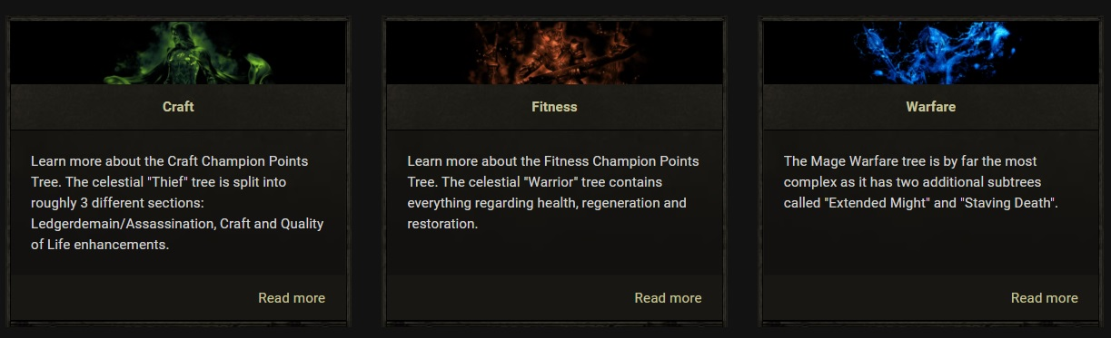 Disciplines Champion Point Trees ESO