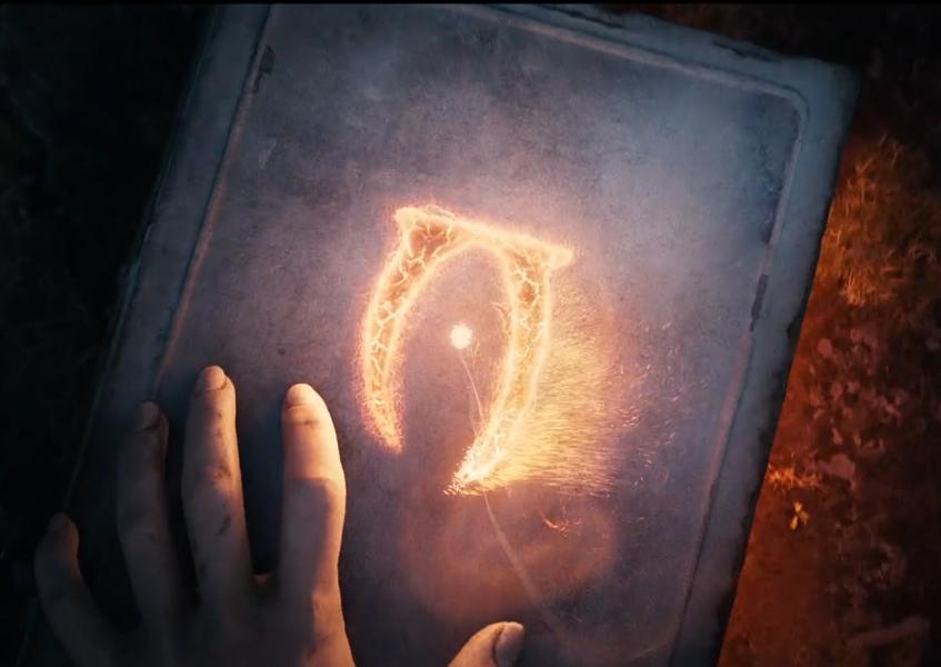 Oblivion sign imprinted on a book