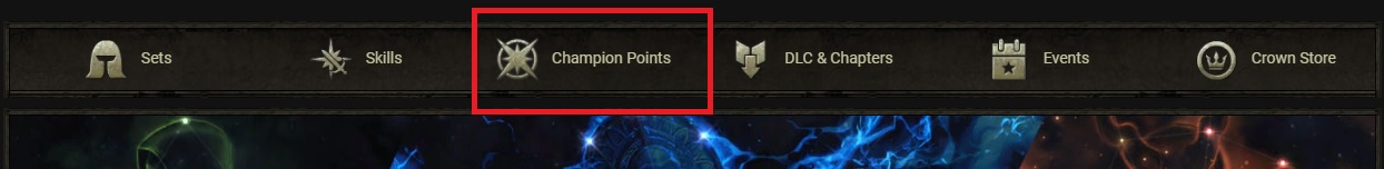 Champion Points Secondary Menu ESO